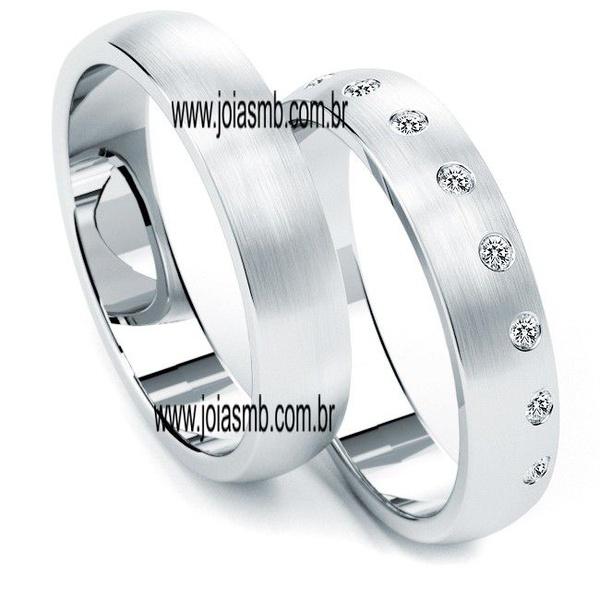 Alianças de Prata Samambaia 6mm