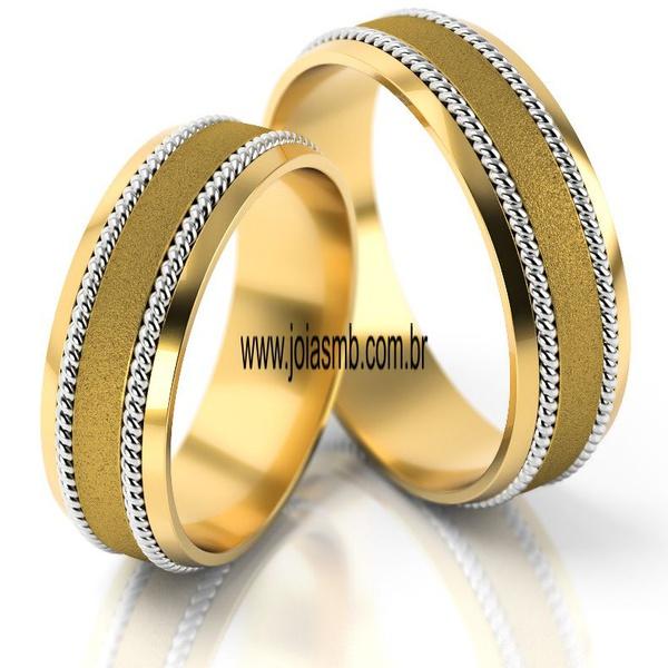 Alianças de Ouro 18k Salvador 7mm