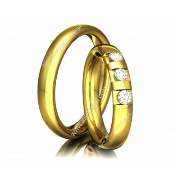 Alianças de Casamento Imperatriz 4mm