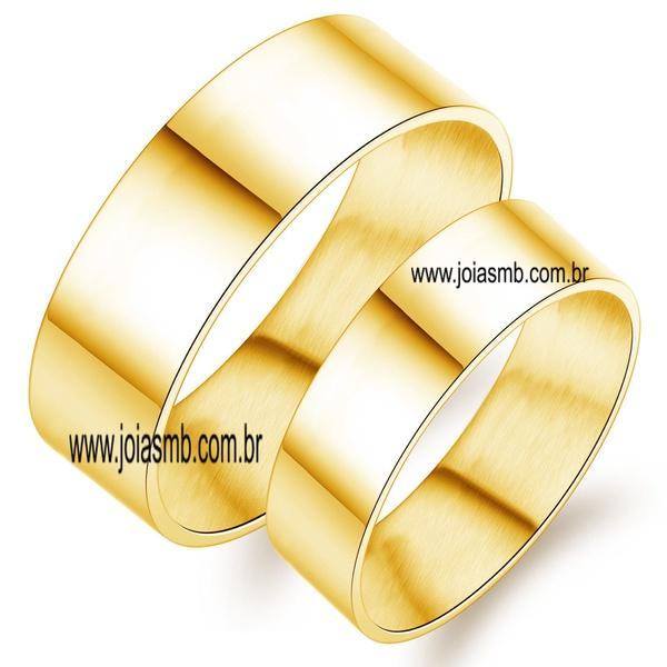 Alianças de Ouro 18k Campo Grande MS 6mm