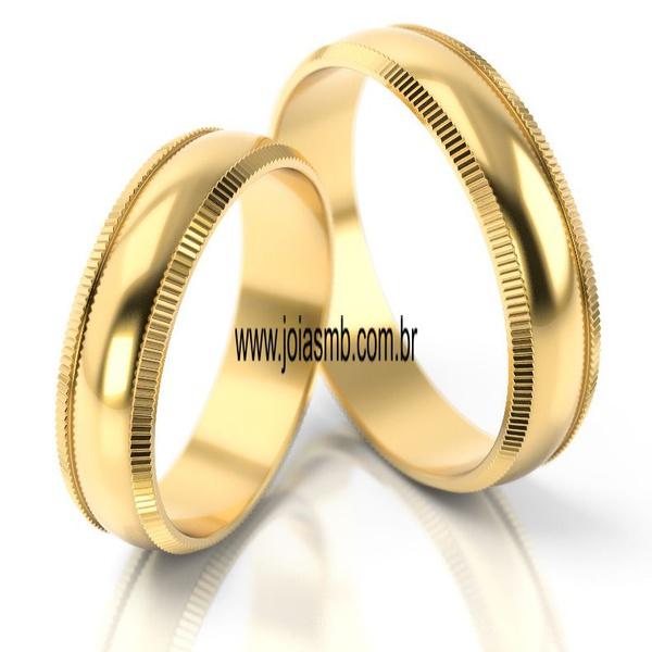 Alianças de Casamento Queimados 7mm