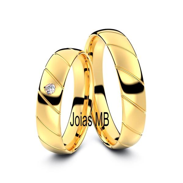 Alianças 4,5mm de Ouro BH