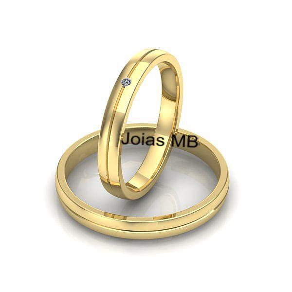 Alianças 3mm de Ouro Gama