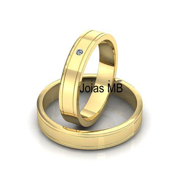 Alianças 4,5mm de Ouro Sorriso