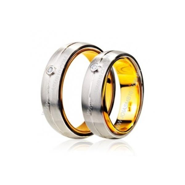 Alianças de Ouro Branco Uberlandia 7mm