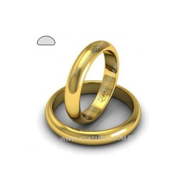 Alianças de Ouro Santos 3,5mm