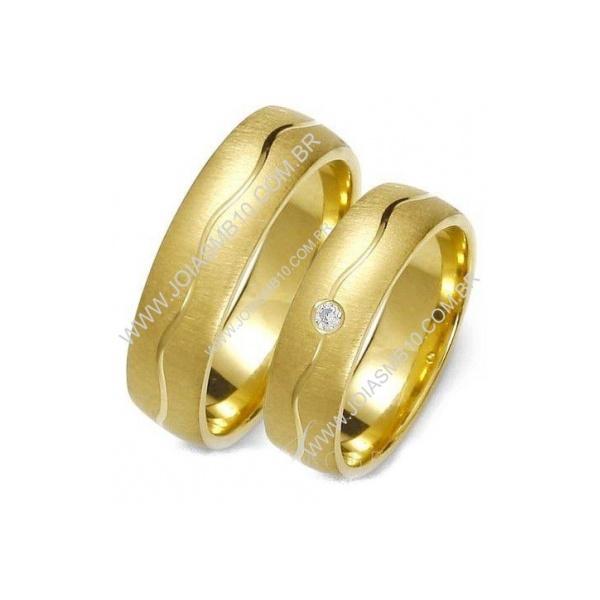 Alianças de Casamento Descalvado 6mm