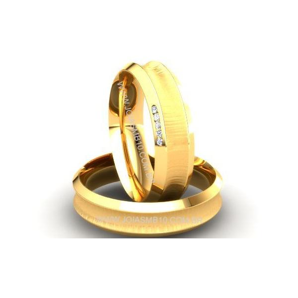Alianças de Ouro Campinas Goiânia 6mm