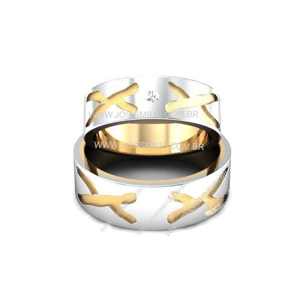 Alianças de Ouro Ferraz de Vasconcelos 8,4mm