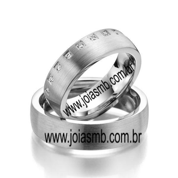 Alianças de Ouro Branco Guarulhos 6mm