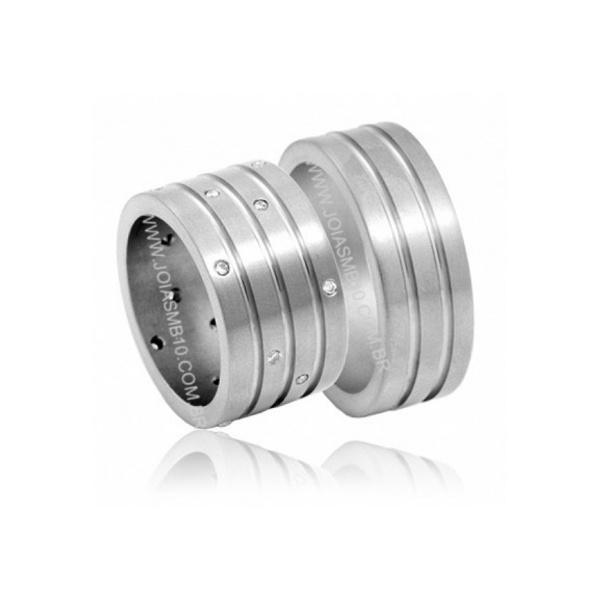 Alianças de Prata Uberlândia 10mm