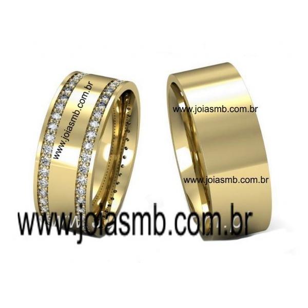 Alianças de Casamento Mozarlândia 7,5mm