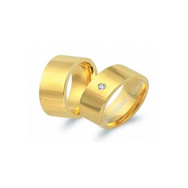 Alianças de Ouro Anatômica Brasilia 10mm