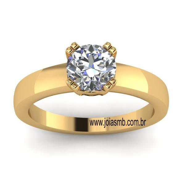 Anel Solitário de Diamante Aracaju