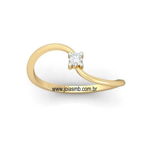 Anel Solitário de Diamante Florianopolis