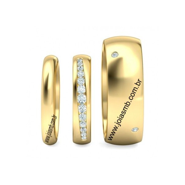 Alianças de Casamento Muriaé 7,5mm