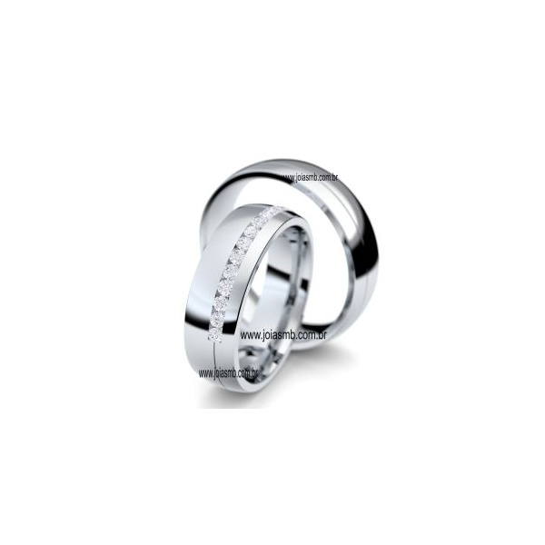 Alianças de Prata Olinda 7,5mm