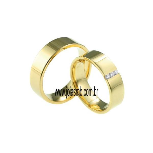 Alianças de Ouro 18k Goiânia 6mm