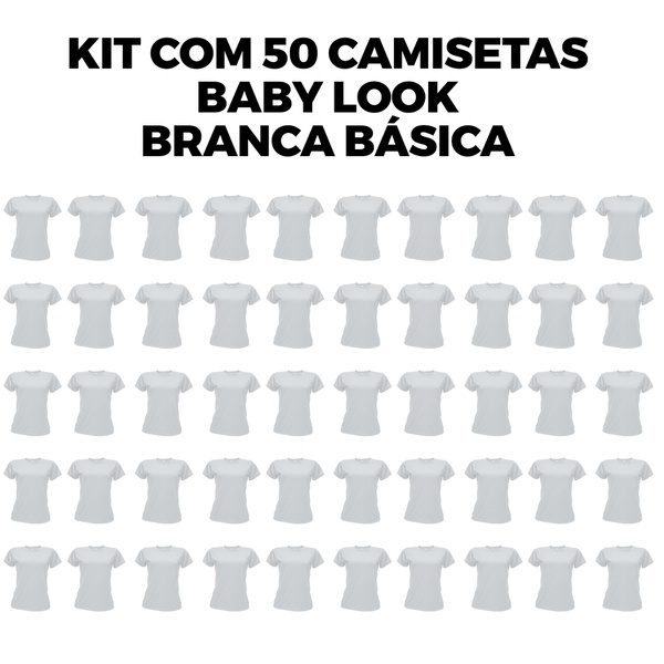 Kit com 50 Babys Look Básica Branca