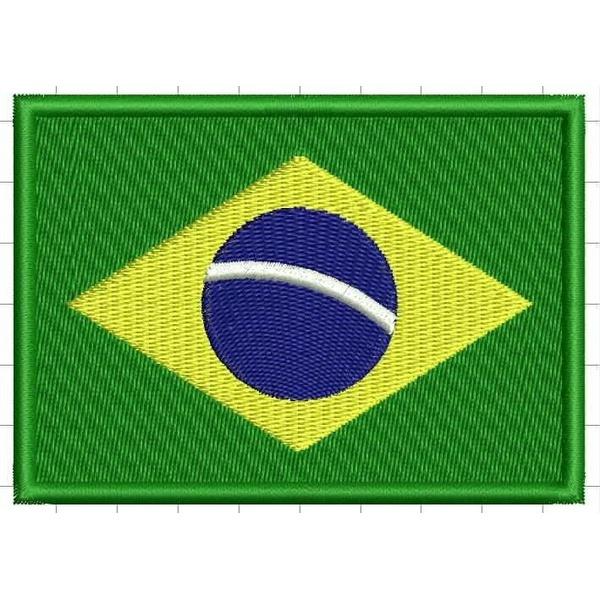 Bordado Bandeira do Brasil
