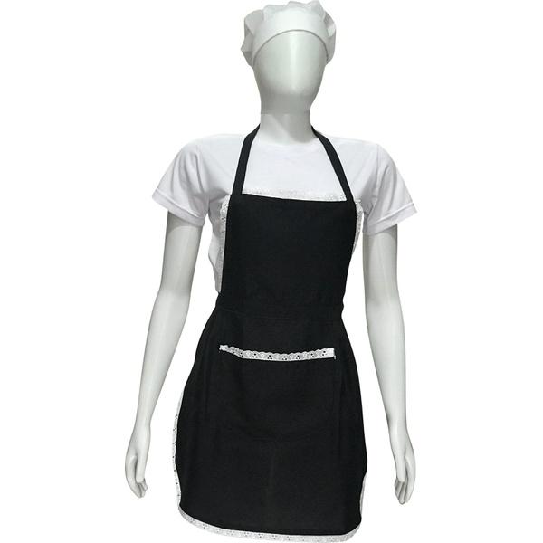 Kit Avental, Touca e Camiseta Branca