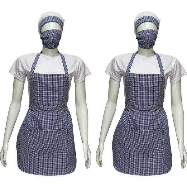 Kit Profissional Duplo - Avental, Touca, Máscara e Camiseta