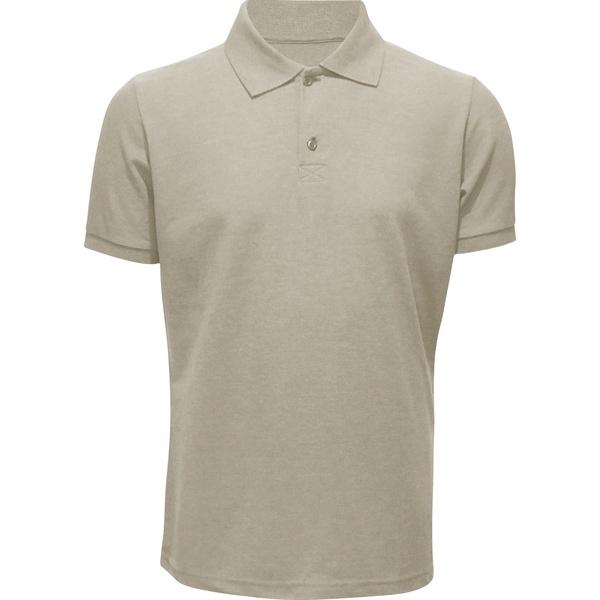 Camisa Polo Masculina Areia