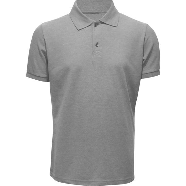 Camisa Polo Masculina Cinza Mescla