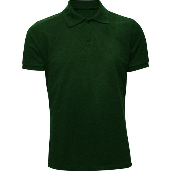 Polo Masculina Verde Musgo
