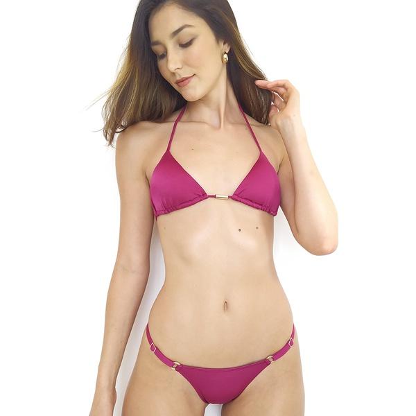 Biquíni Fio Dental Duplo Vinho - Amazona Beachwear