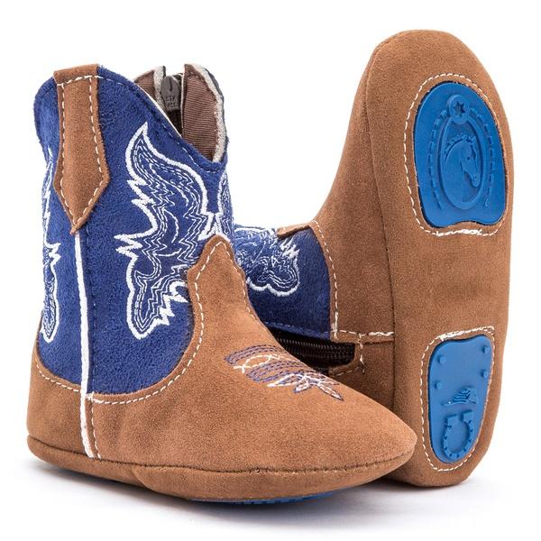 Bota Infantil Texana Country Castor Azul
