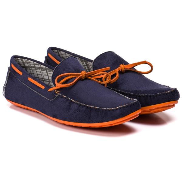 mocassim azul com laranja masculino kapell