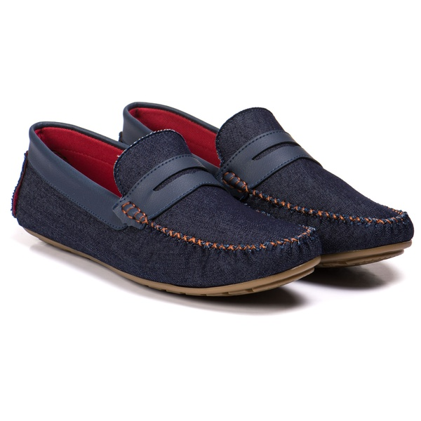Mocassim masculino jeans azul Kapell