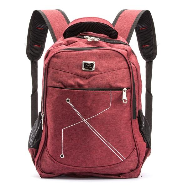 Mochila em Poliester para Livros, Notebook, Unisex vermelha 25L Kapell. Ideal para Faculdade, Escola.