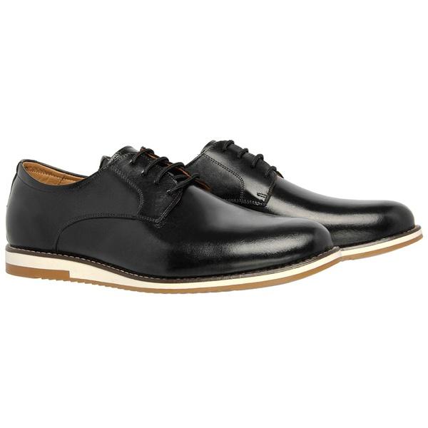Sapato Social Linha Oxford Preto em Couro Legítimo