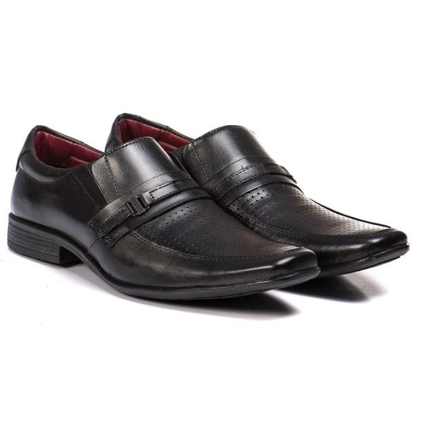 Sapato Social Preto em Couro Legítimo