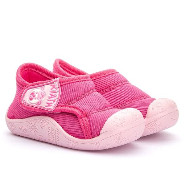 Tenis Infantil Pink com Velcro Linha Baby