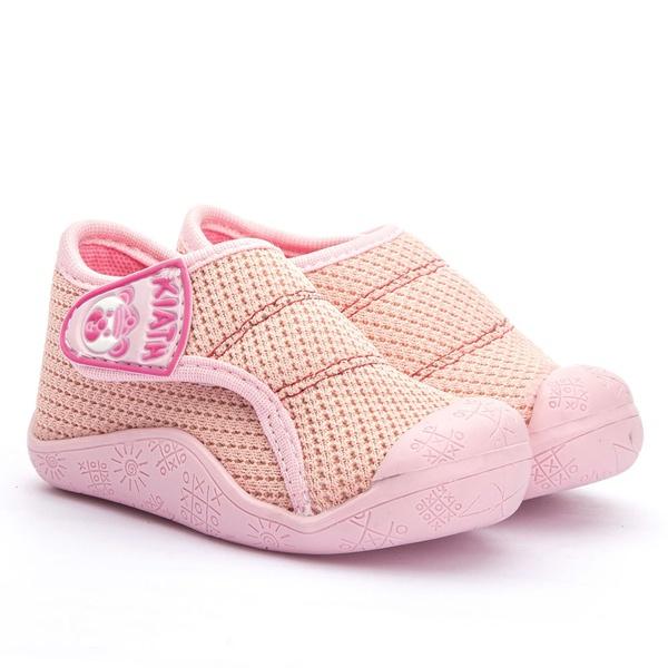 tenis Infantil com Velcro Linha Baby Rosa