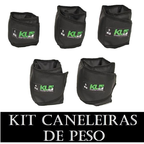 Kit Caneleira Tornozeleira Peso 1,2,3,4 e 5 kg