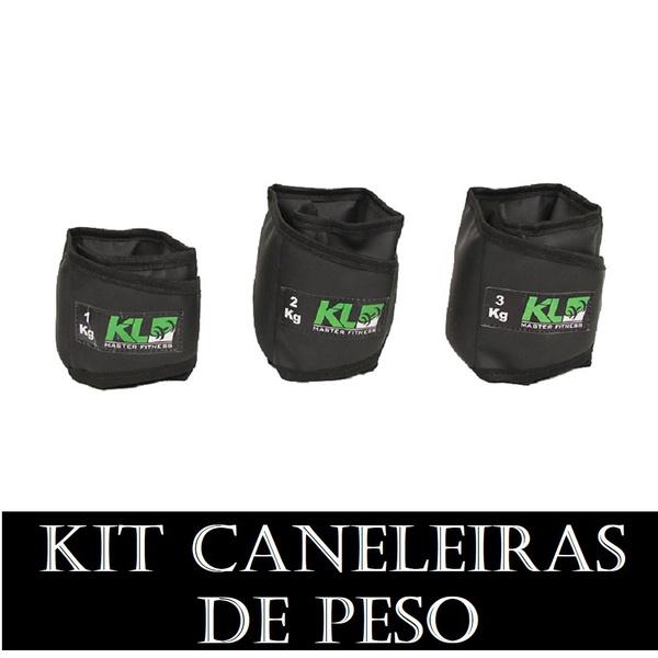 Kit Caneleira Tornozeleira de Peso 1,2 e 3 kg