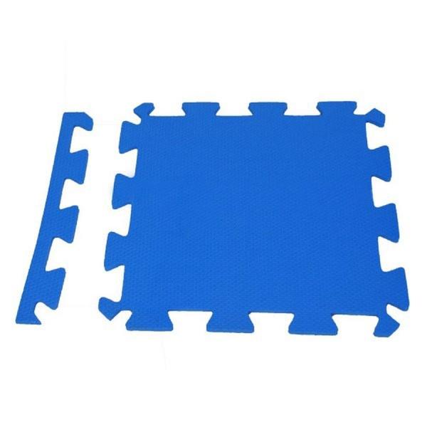 Tatame Eva Piso Borracha Tapete De Encaixe 50 x 50 x 1 cm Azul