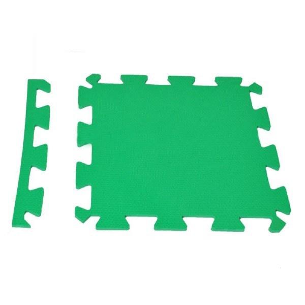 Tatame Eva Piso Borracha Tapete De Encaixe 50x50x1cm Verde