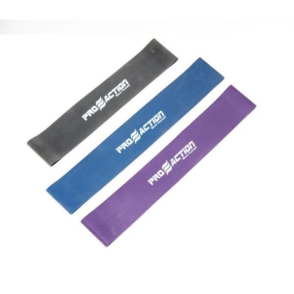 Kit Mini Bands Faixa Elástica Circular Pilates Funcional Forte, Ultra e Extra Forte