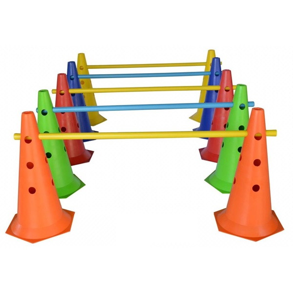 Kit 8 Cones 50 Cm C/Barreiras Funcional Circuito Agilidade