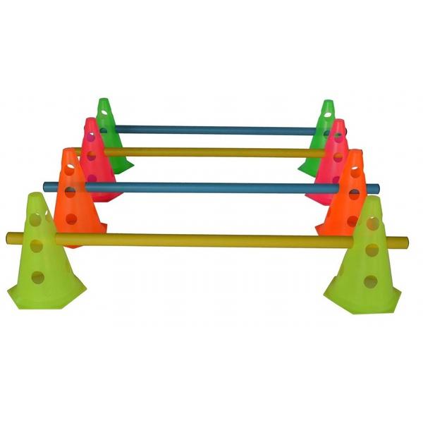 Kit 8 Cones C/Barreiras Funcional Circuito Agilidade