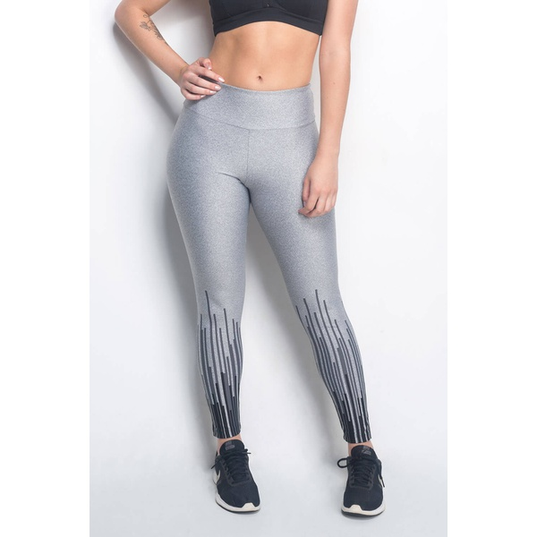 Calça Legging Fitness Matrix Mescla