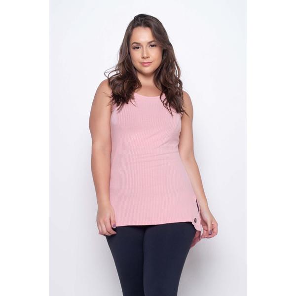 Camiseta Canelada Mullet Rosa