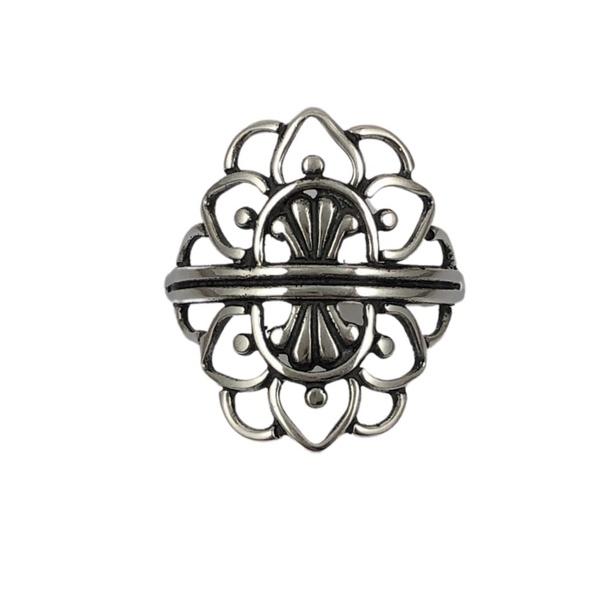 Anel Mandala em Prata 925