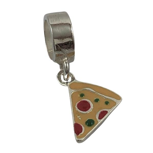 Berloque Pizza em Prata 925