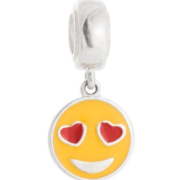 Berloque Smile com Coração em Prata 925